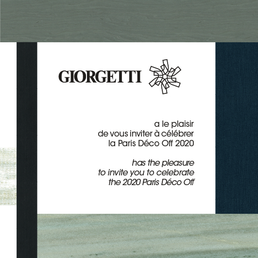 GIORGETTI SHOWS ITS PASSION FOR WOOD IN PARIS DÉCO OFF